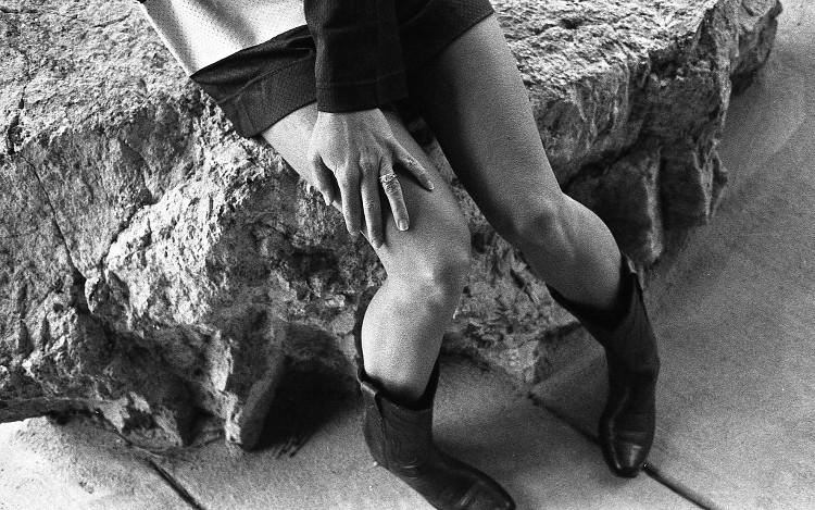 black and white boudoir film photography